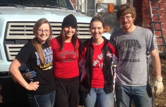 Left to right: Samantha Voorhees, Sabrina Voorhees, Kaitlyn Ralston, and Josh Hickok.