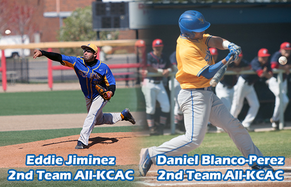Photo for Blanco and Jiminez Leads Baseball All-KCAC Honors