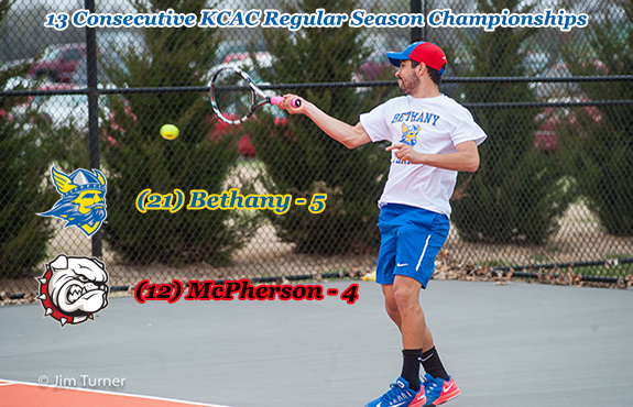Photo for Men's Tennis Claims 13th Straight Conference Crown; Women's Tennis Drops Match to McPherson