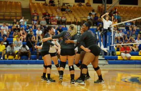 Photo for Volleyball Sweeps Bethel Earning First Conference Win
