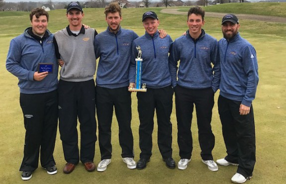 Photo for Men's Golf Places Second in Iowa; Bryant Wins First Round of KCAC Tournament