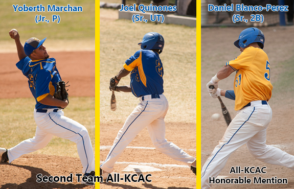 Photo for Marchan, Quinones, and Blanco-Perez Earn All-KCAC Honors