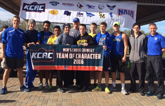 Photo for Men's Cross Country Wins Team of Character; Swedes Compete at KCAC Championships