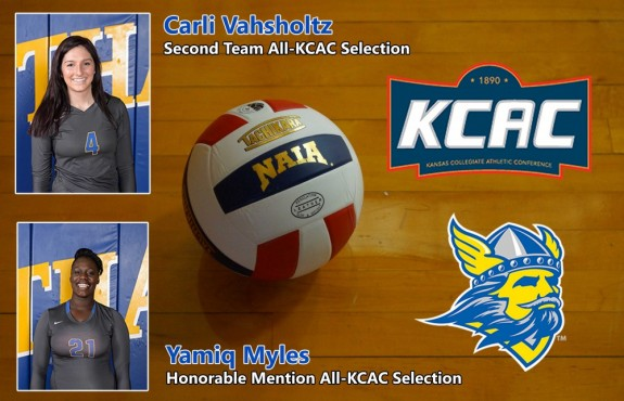 Photo for Vahsholtz and Myles Earn KCAC Honors