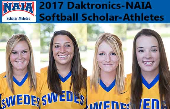 Photo for Four Swedes Earn NAIA Softball Scholar-Athlete Honors