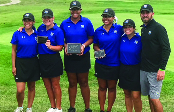 Photo for Women's Golf Wins First Tournament in Program History